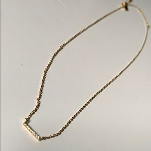 Banana Republic Dainty Pave Line Pendant Necklaces